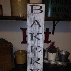 BRAND NEW Vertical BAKERY Farmhouse Sign